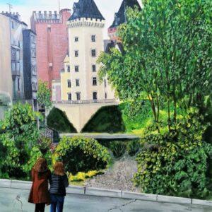 Debriva - Pau Le château depuis rue Bordenave d'Aber