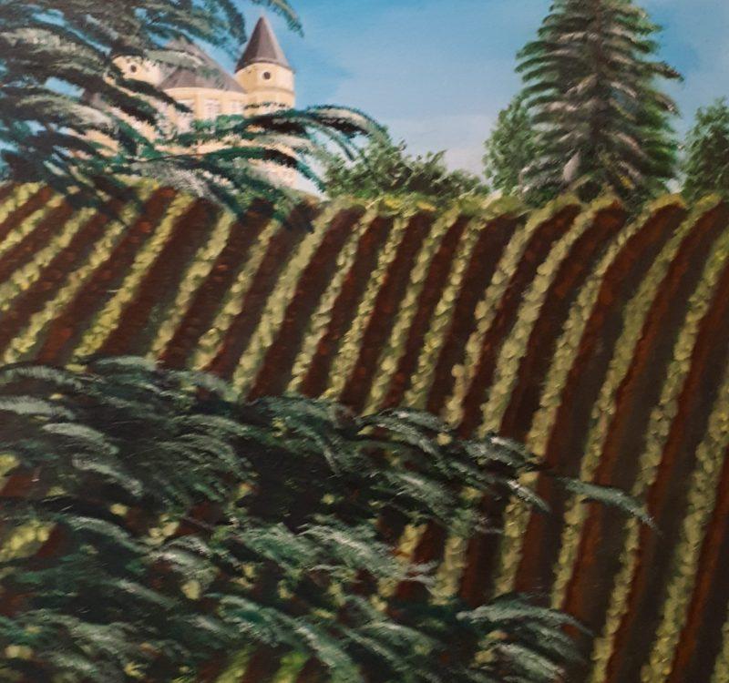 château de franqueville vue des vignes