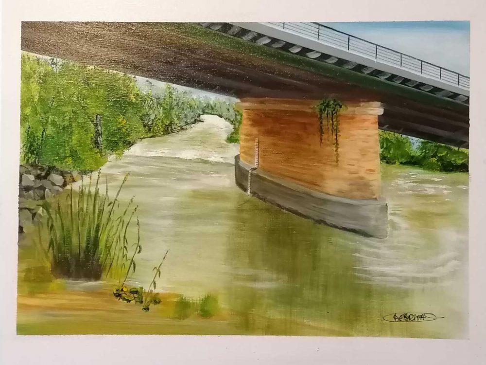 Debriva gave au pont de Lescar